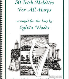 50 Irish Melodies for the Harp Arranged by Sylvia Woods at Pencerdd music store Penarth