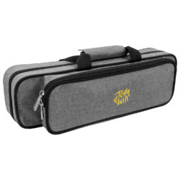 Tom & Will 36FG Flute Gig Case With Moulded Interior In Grey  available at Pencerdd Music Store Penarth