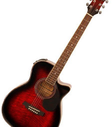 Freshman FA1AWR Acoustic Guitar E.Q Wine Red available ayt pencerdd music store penarth near cardiff