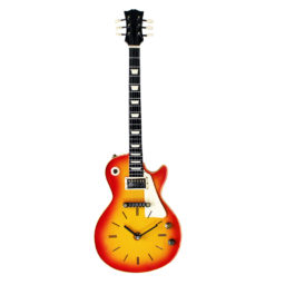 Wall Clock Guitar Vintage Large 22 Inch