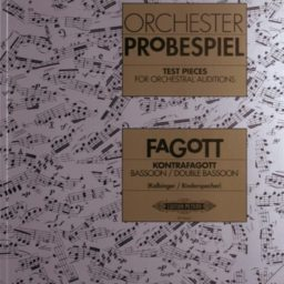 Test Pieces for Orchestral Auditions (Bassoon/Contrabassoon) available at Pencerdd Music Store Penarth