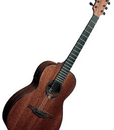 Lag Tramontane T90PE Electro Acoustic Parlour Guitar available at pencerdd music store penarth near cardiff
