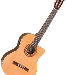 Santos Martinez Preludio Electro Classic Cutaway Fishman available at pencerdd music store penarth near cardiff