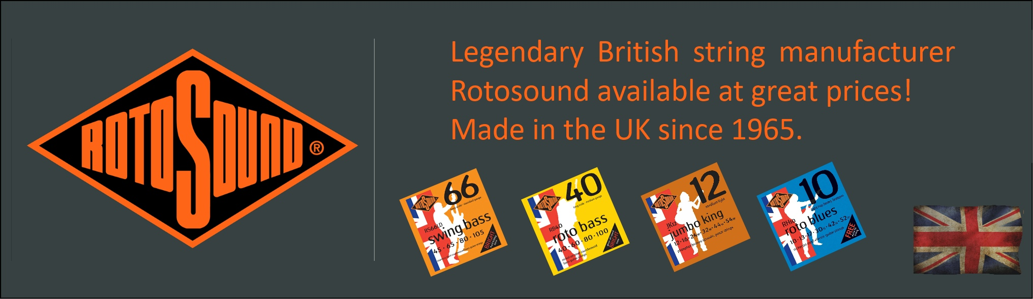 Rotosound Strings available at Penarth Music Centre