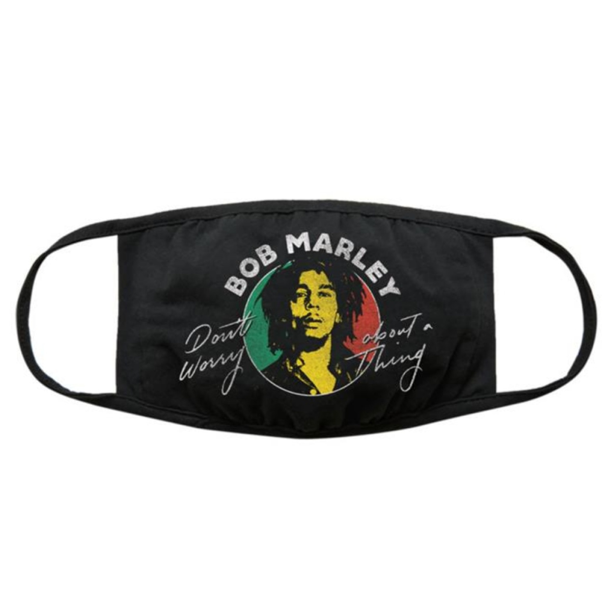 Bob Marley Don't Worry Face mask available at Penarth Music Centre