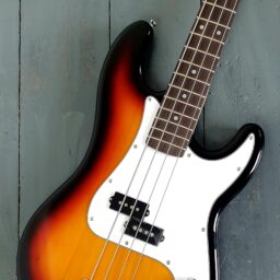 Aria STB Bass Sunburst available at Penarth Music Centre