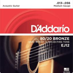 D'addario 80/20 Bronze Acoustic Guitar Strings Medium 13-56 penarth music centre